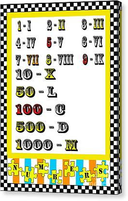 Numbers Juvenile Licensing Art Canvas Print by Anahi DeCanio