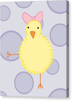 Nursery Art Baby Bird Canvas Print by Christy Beckwith