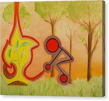Greenworldalaska Canvas Print - Nurture - The Act Of Bringing Up. by Cory Green
