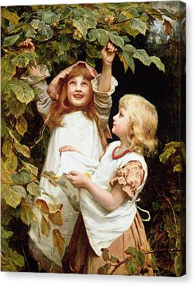 Bough Canvas Print - Nutting by Frederick Morgan