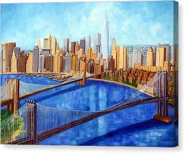 Ny City Resurrection Canvas Print by Leonardo Ruggieri