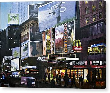 Ny Ny At Dusk Canvas Print by Stuart B Yaeger