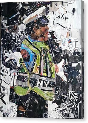 Ny Policewoman Canvas Print by Suzy Pal Powell