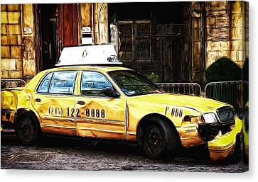 Ny Taxi Cab Canvas Print by Fiona Messenger