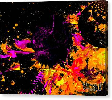 Nyak Planet Canvas Print by Fania Simon