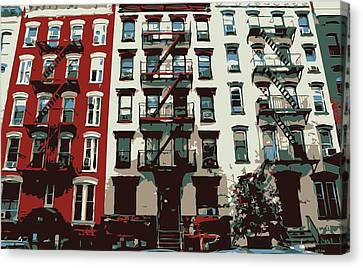 Nyc Apartment Color 6 Canvas Print by Scott Kelley