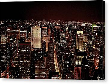Nyc At Night Canvas Print by Rawimage Photography