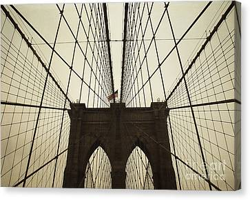 Nyc- Brooklyn Brige Canvas Print by Hannes Cmarits