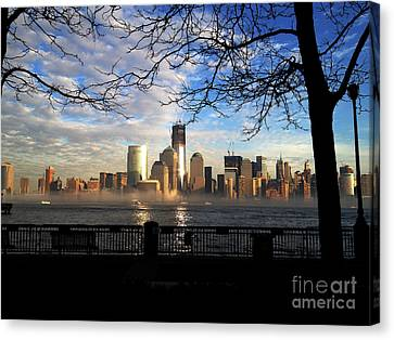 Nyc Fog Canvas Print