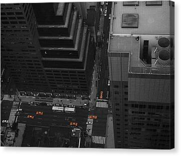 Nyc From The Top 1 Canvas Print by Naxart Studio