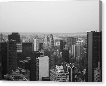 Nyc From The Top 3 Canvas Print by Naxart Studio