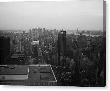 Nyc From The Top 5 Canvas Print by Naxart Studio