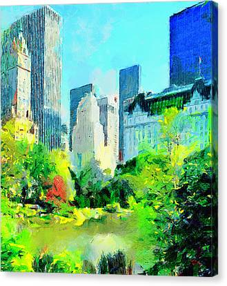 Nyc Grand Park Canvas Print