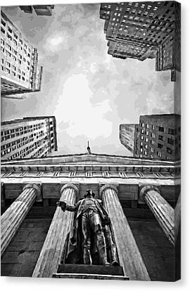 Nyc Looking Up Bw16 Canvas Print by Scott Kelley