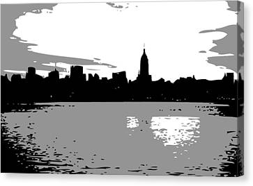 The Universe Canvas Print - Nyc Morning Bw3 by Scott Kelley