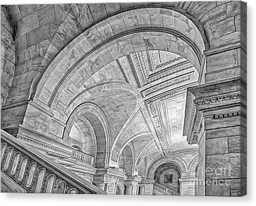 Nyc Public Library Canvas Print by Susan Candelario