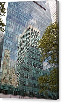 Nyc Reflection 1 Canvas Print by Art Ferrier