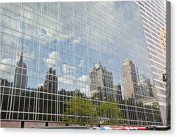 Nyc Reflection 3 Canvas Print by Art Ferrier
