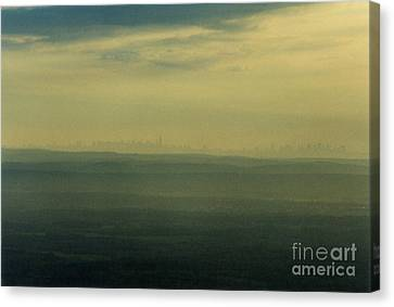 Nyc Skyline Canvas Print by Thomas Luca