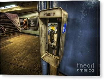 Nyc Subway Phone Canvas Print