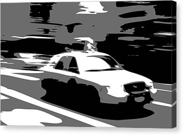 Nyc Taxi Bw3 Canvas Print by Scott Kelley