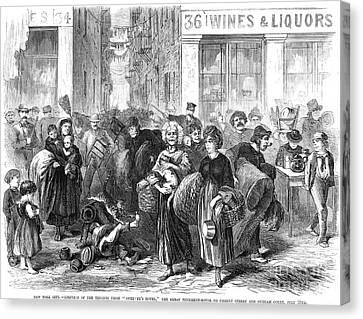Nyc: Tenement Life, 1871 Canvas Print