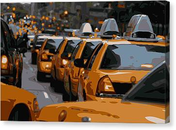 Nyc Traffic Color 16 Canvas Print by Scott Kelley