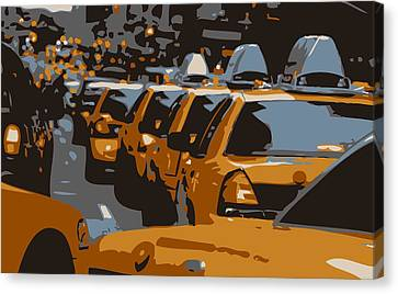 Nyc Traffic Color 6 Canvas Print by Scott Kelley