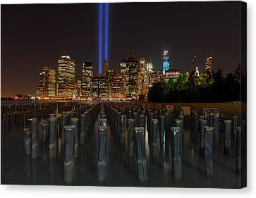 Nyc Tribute Lights - The Pier Canvas Print