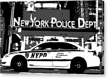 Nypd Bw3 Canvas Print by Scott Kelley