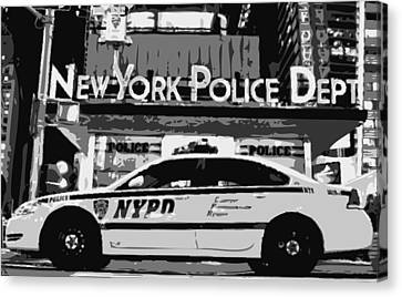 Nypd Bw8 Canvas Print by Scott Kelley