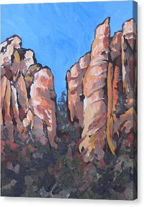 Oak Creek Canyon Canvas Print by Sandy Tracey