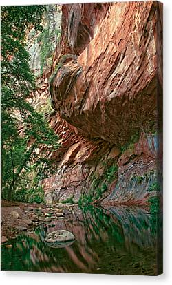 Oak Creek Canyon Walls Canvas Print by Dave Dilli