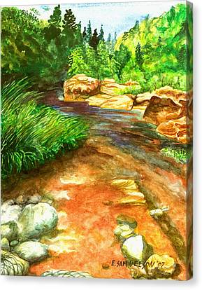 Oak Creek Red Canvas Print by Eric Samuelson