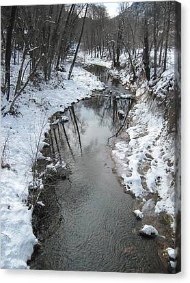 Oak Creek Winter Canvas Print by Sandy Tracey