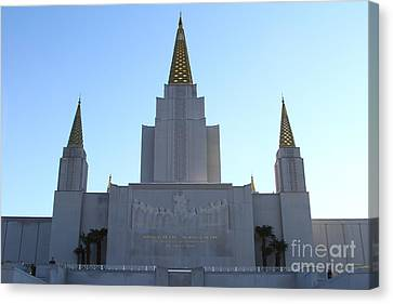 Oakland California Temple . The Church Of Jesus Christ Of Latter-day Saints . 7d11326 Canvas Print by Wingsdomain Art and Photography