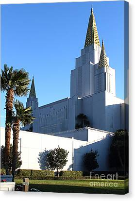 Oakland California Temple . The Church Of Jesus Christ Of Latter-day Saints . 7d11329 Canvas Print by Wingsdomain Art and Photography
