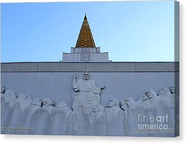 Oakland California Temple . The Church Of Jesus Christ Of Latter-day Saints . 7d11334 Canvas Print by Wingsdomain Art and Photography