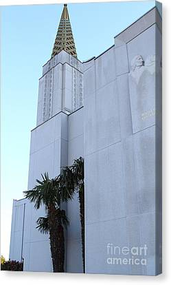Oakland California Temple . The Church Of Jesus Christ Of Latter-day Saints . 7d11335 Canvas Print by Wingsdomain Art and Photography