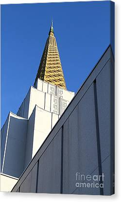 Oakland California Temple . The Church Of Jesus Christ Of Latter-day Saints . 7d11338 Canvas Print by Wingsdomain Art and Photography