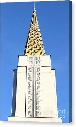 Oakland California Temple . The Church Of Jesus Christ Of Latter-day Saints . 7d11339 Canvas Print by Wingsdomain Art and Photography