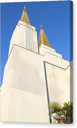 Oakland California Temple . The Church Of Jesus Christ Of Latter-day Saints . 7d11345 Canvas Print by Wingsdomain Art and Photography