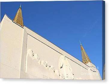 Oakland California Temple . The Church Of Jesus Christ Of Latter-day Saints . 7d11347 Canvas Print by Wingsdomain Art and Photography