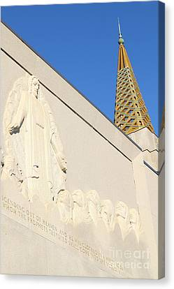 Oakland California Temple . The Church Of Jesus Christ Of Latter-day Saints . 7d11348 Canvas Print by Wingsdomain Art and Photography