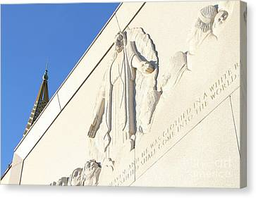 Oakland California Temple . The Church Of Jesus Christ Of Latter-day Saints . 7d11351 Canvas Print by Wingsdomain Art and Photography
