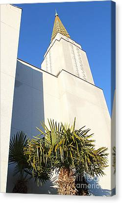 Oakland California Temple . The Church Of Jesus Christ Of Latter-day Saints . 7d11352 Canvas Print by Wingsdomain Art and Photography
