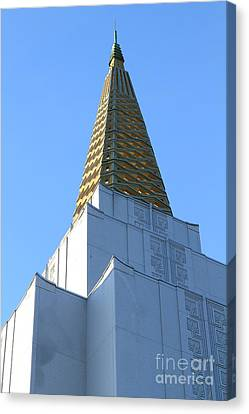 Oakland California Temple . The Church Of Jesus Christ Of Latter-day Saints . 7d11358 Canvas Print by Wingsdomain Art and Photography