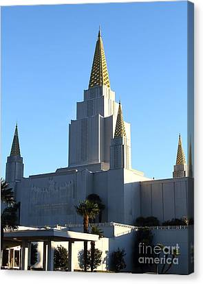 Oakland California Temple . The Church Of Jesus Christ Of Latter-day Saints . 7d11374 Canvas Print by Wingsdomain Art and Photography