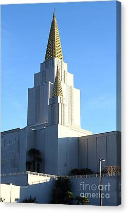 Oakland California Temple . The Church Of Jesus Christ Of Latter-day Saints . 7d11377 Canvas Print by Wingsdomain Art and Photography