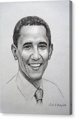 Obama Canvas Print by Leah Hopkins Henry